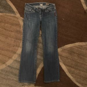 Tuesday Low Rise Boot Cut Silver Jeans